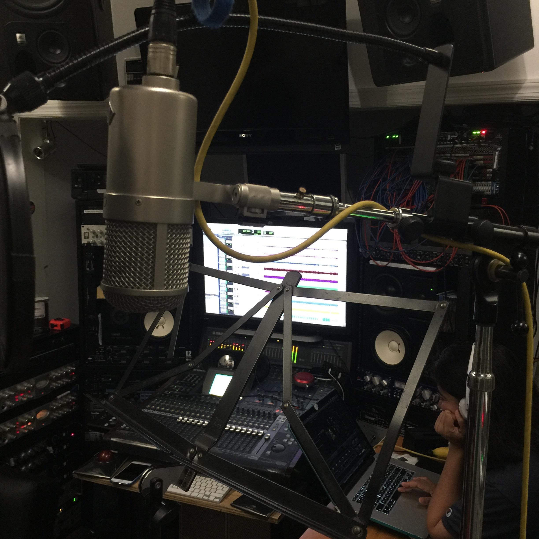 scratch vocals recording set up the control room