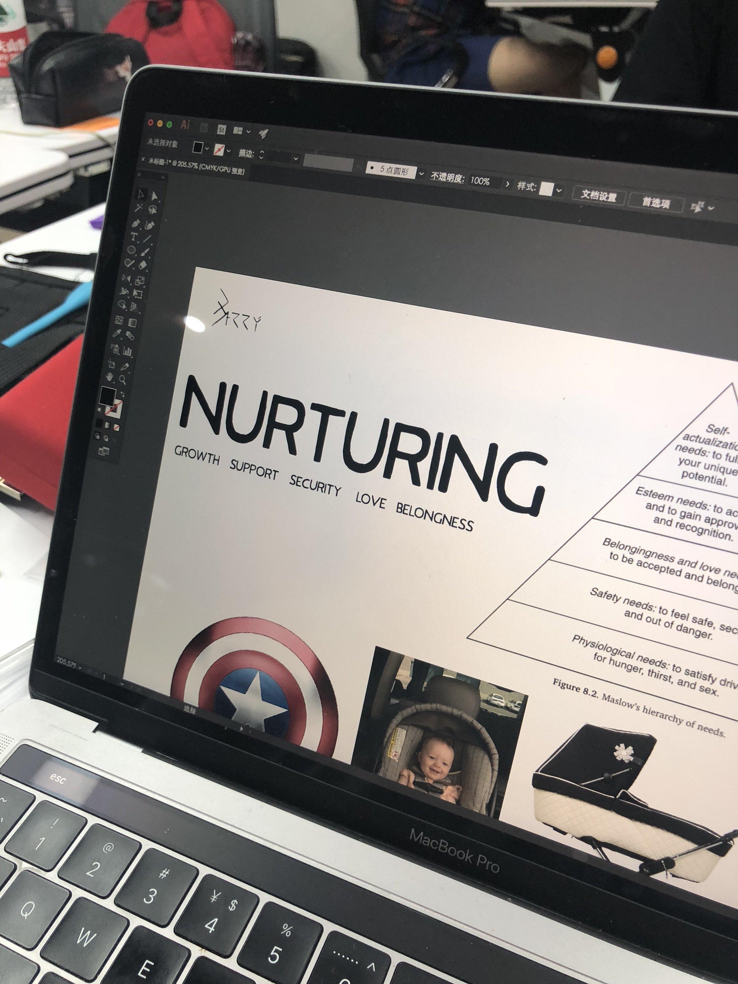 "Moodboard for a ""nurturing"" form"