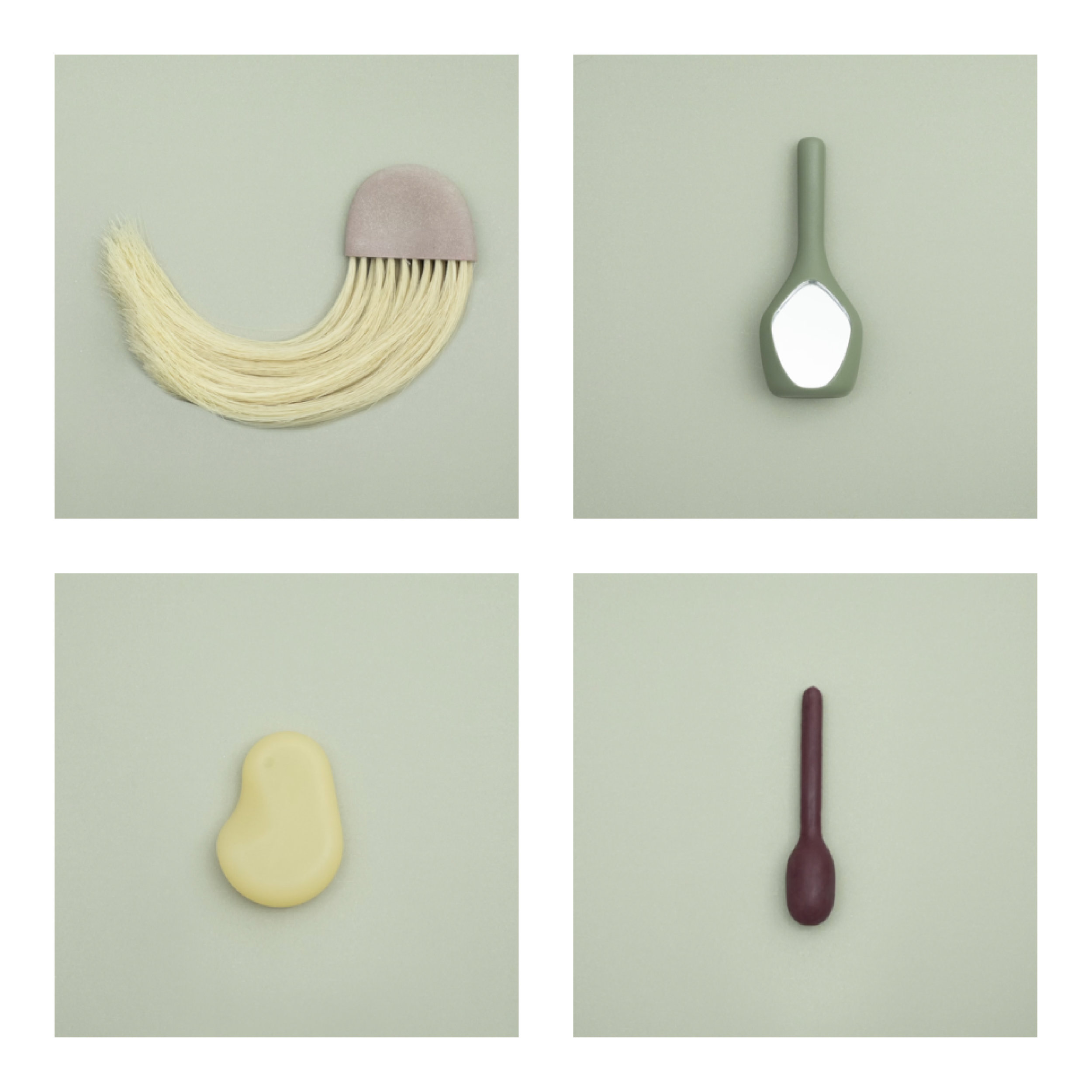 Sexual Healing Collection (clockwise from top left: Brush, Mirror, Stone, Pelvic Sensor)