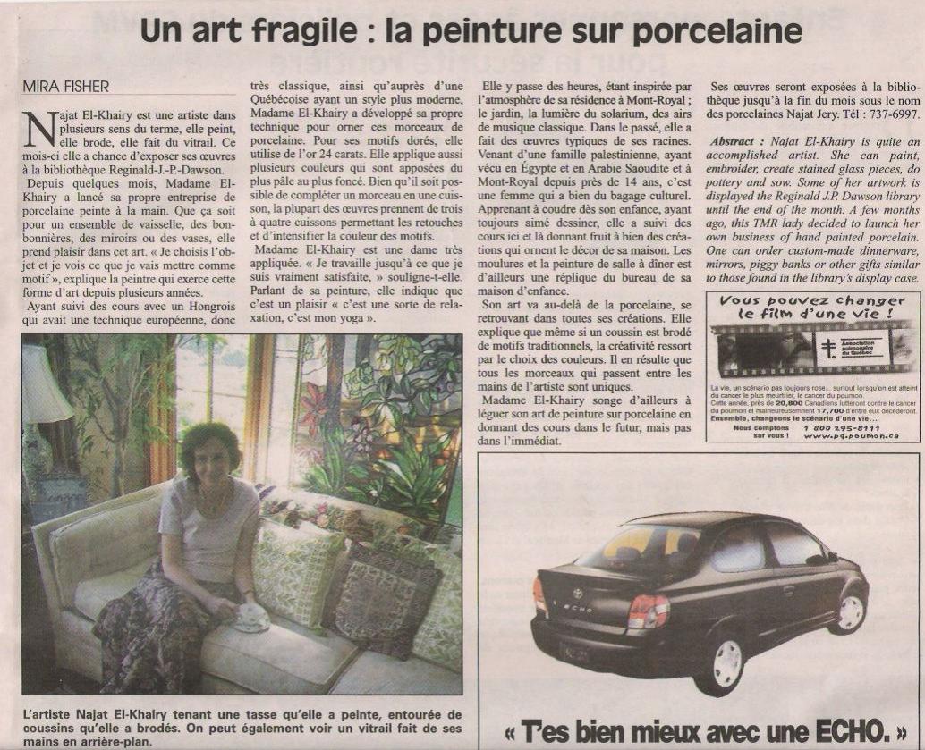 Journal duMont-Royal - 22 Aout 2002