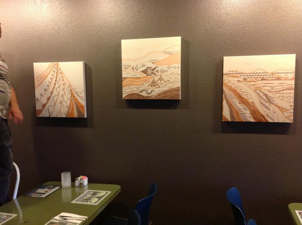 Exhibit at Ibrahim Nashabibi's Fairuz Cafe - San Diego - November 2012
