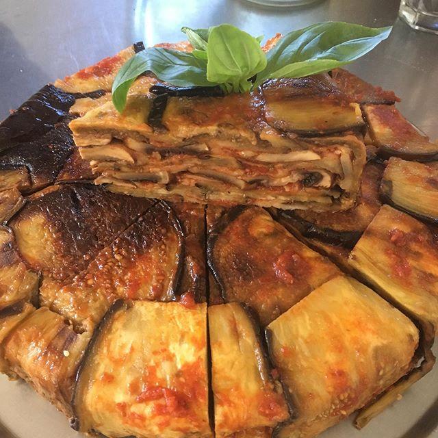 Eggplant and mushroom bake. #glutenfree #parmigiana #delicious