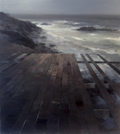 Jeremy Miranda ,  Northern Shore  (oil on canvas)