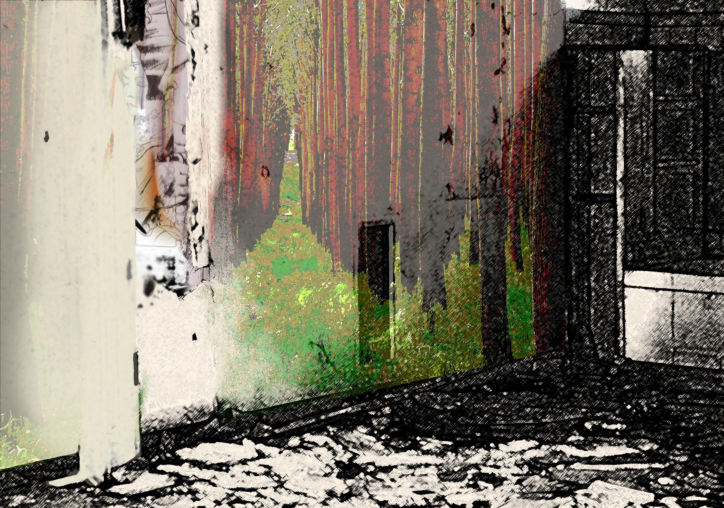 Elizabeth Pelley ,  Condon Abandoned  (mixed media)