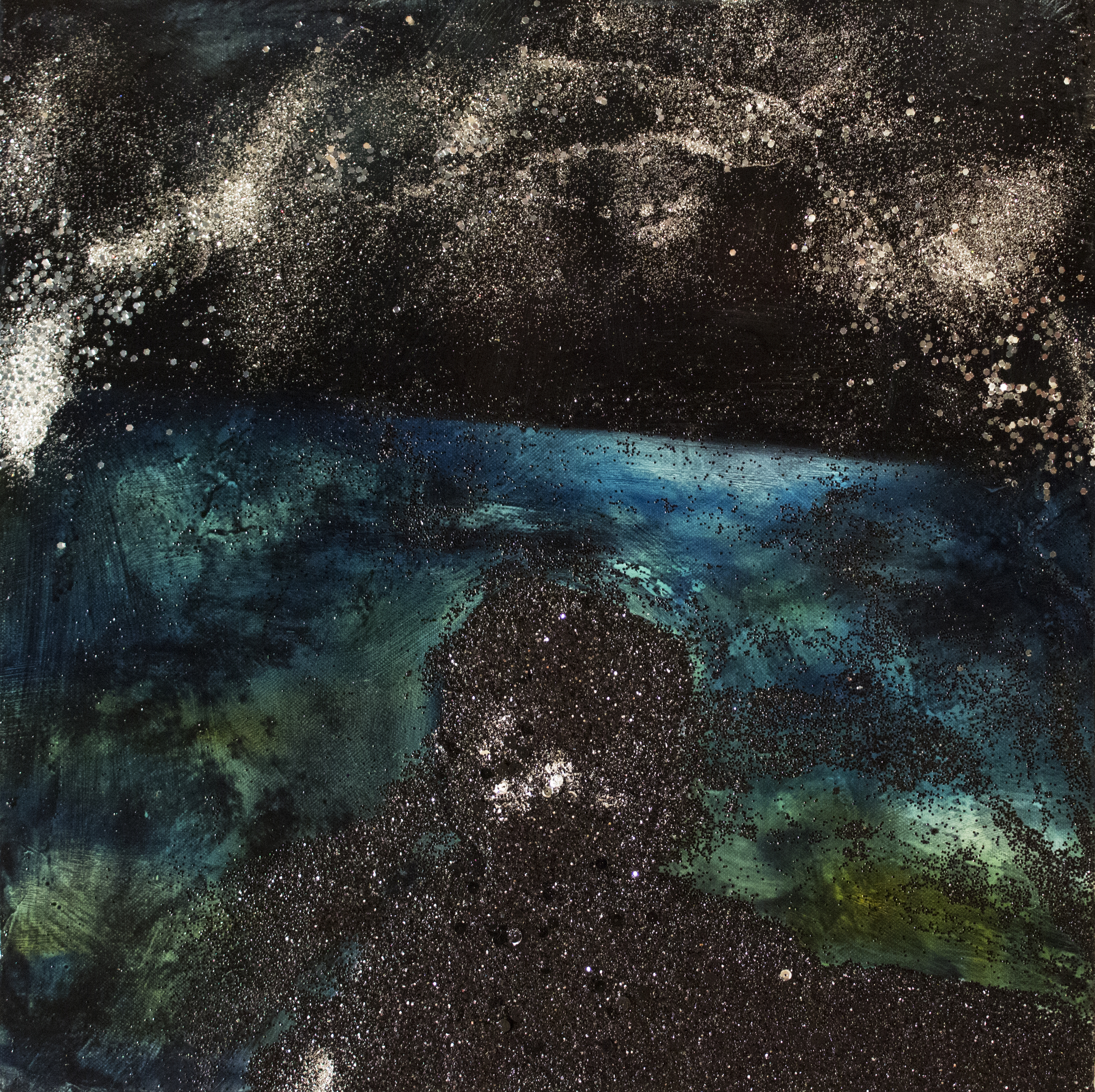 Shannon Estlund , Distance II (oil and glitter on panel)