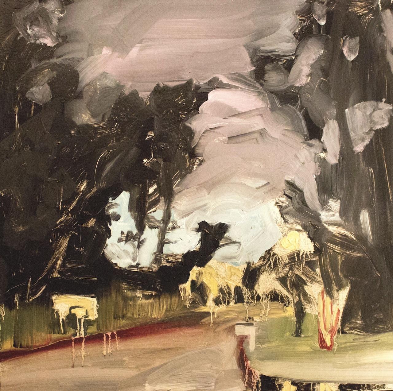 Shannon Estlund ,  Bobcat Lane (oil on panel)