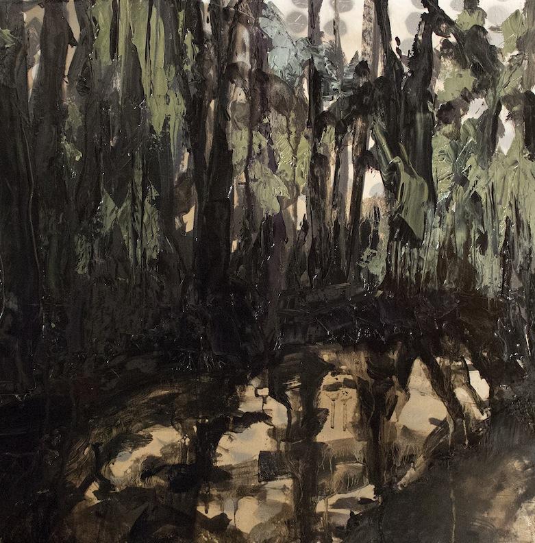 Shannon Estlund ,  Mirror Pond (oil on canvas)