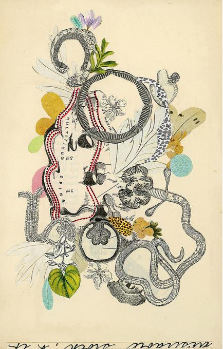 Valerie Roybal  ,  Transmutation 3     (collage)