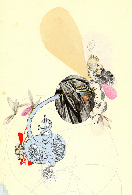 Valerie Roybal  ,   Little Grief Machine   (collage)