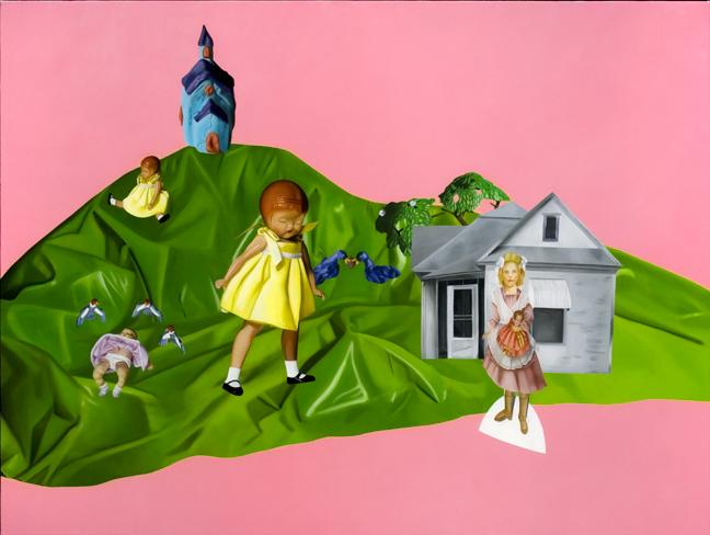 Julie Farstad  , Prairiesummerheartbreak (oil on canvas on board)