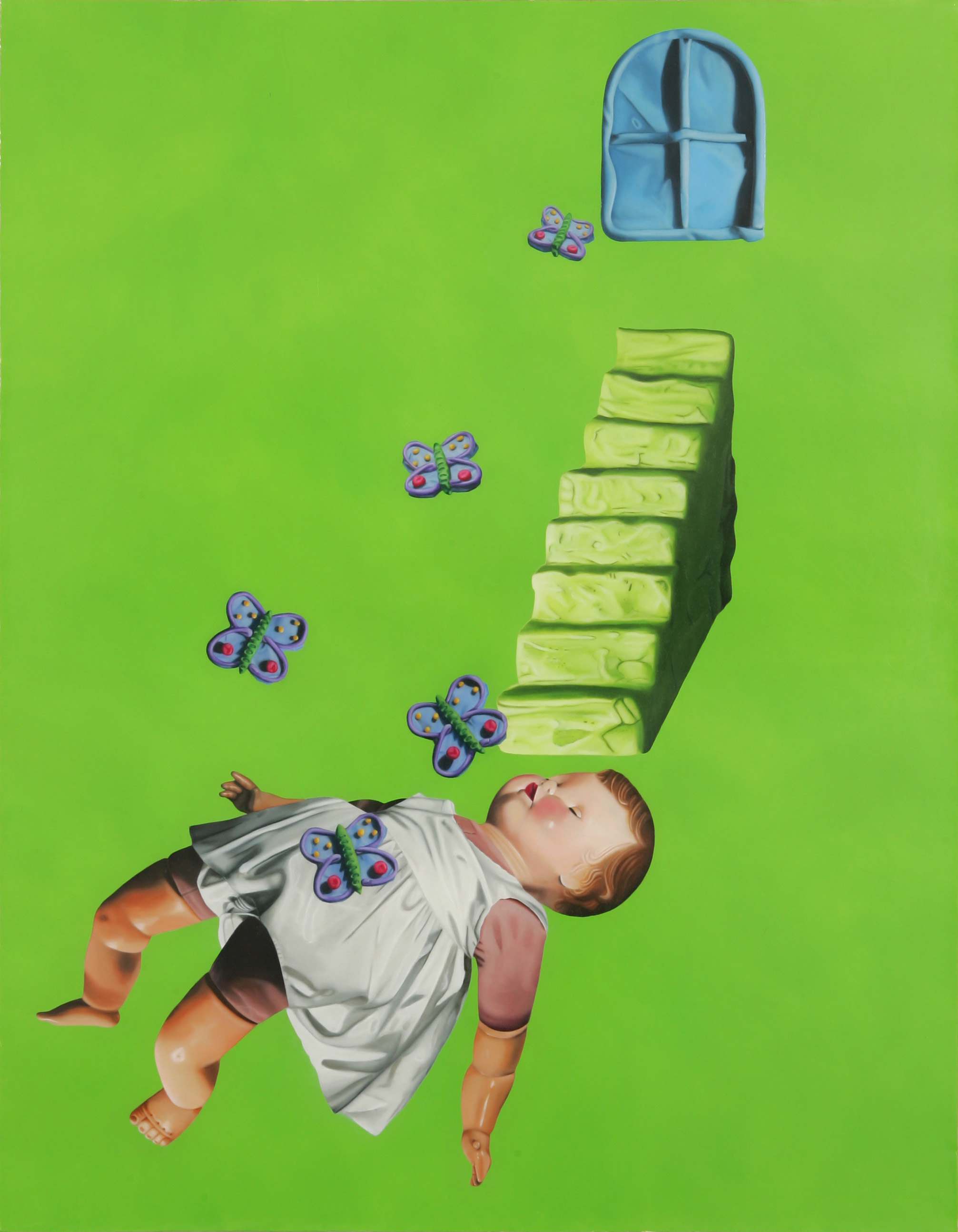 Julie Farstad  ,   Stunt Girl's Sweet Reward   (oil on canvas)
