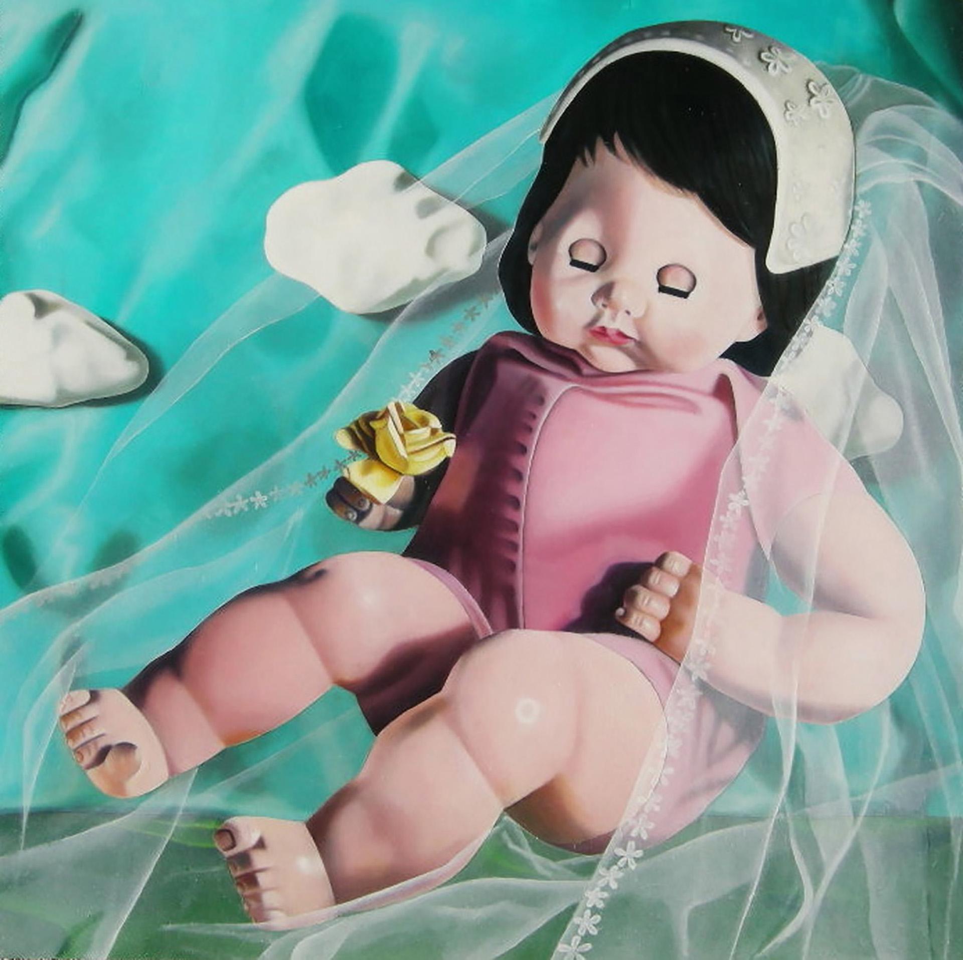 Julie Farstad , Yellow Rose (oil on clayboard)