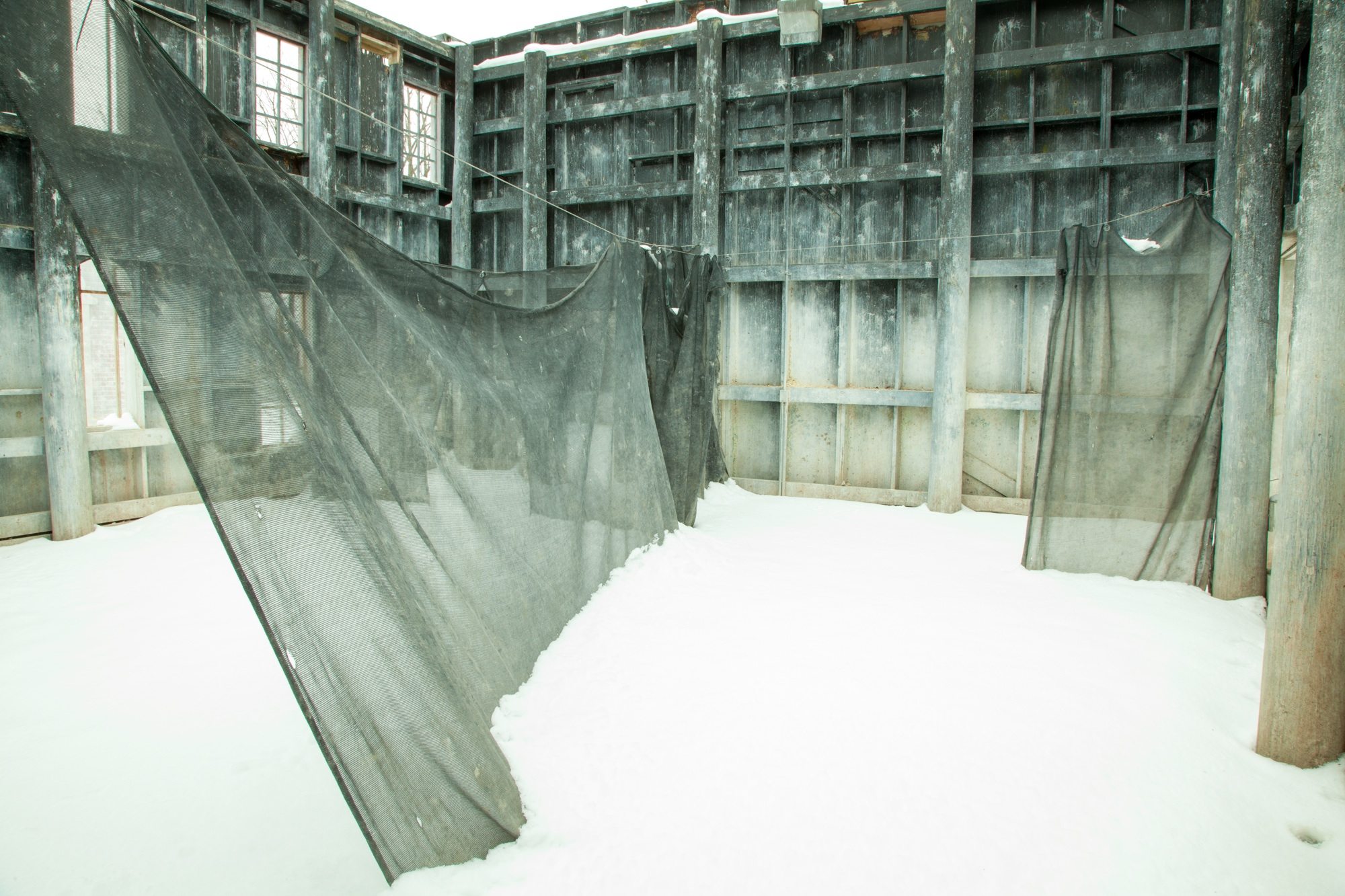 "Ruth Dusseault , Play War, Curtain, Chicagoland,  2013 (digital c-print, 26x30"")"