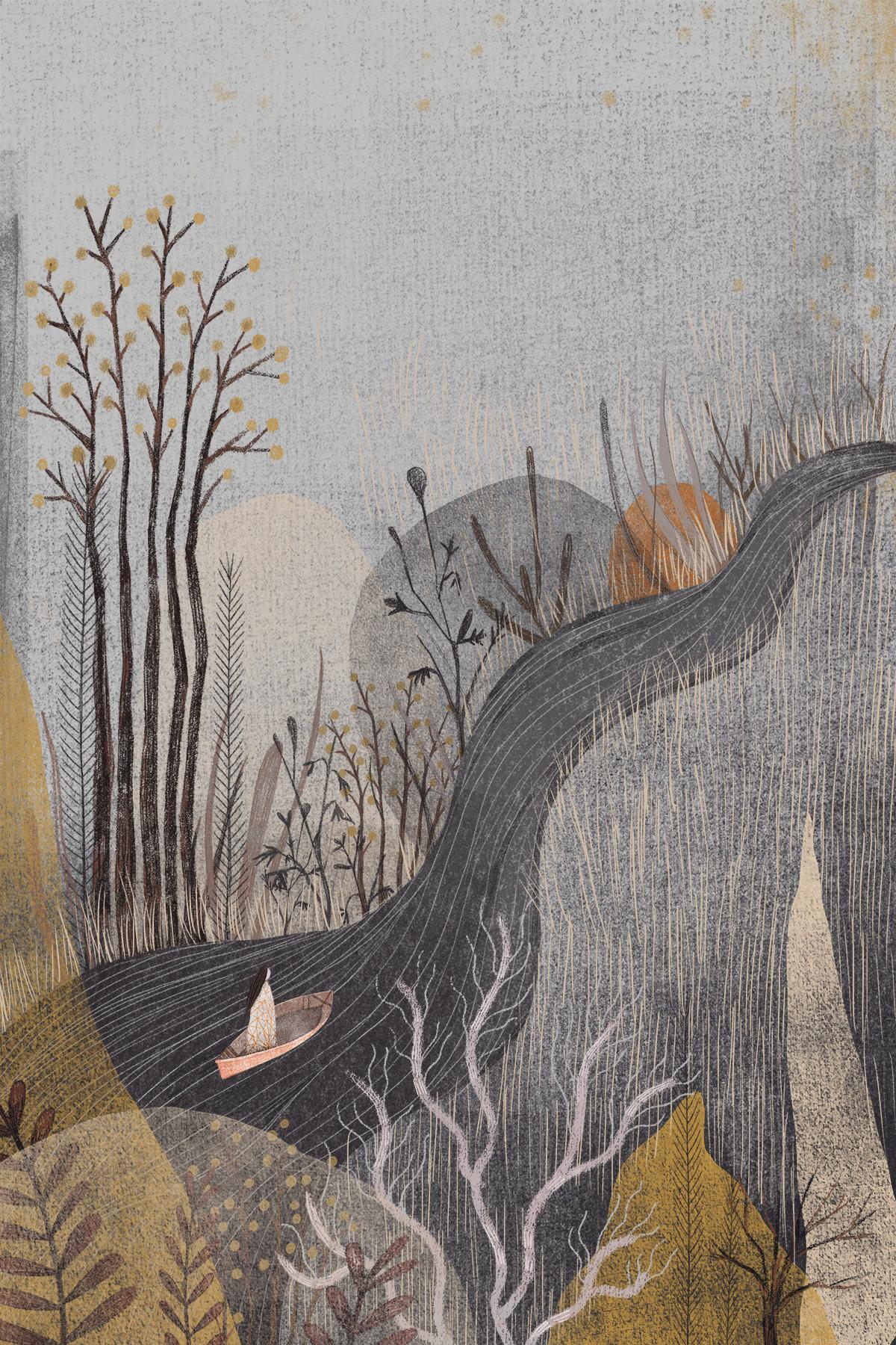Seo Kim , About A Boat (digital illustration)