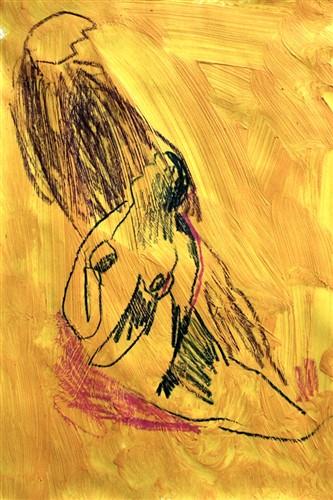 Tayfun Gülnar ,  Unt  itled (oil and pencil on canvas)