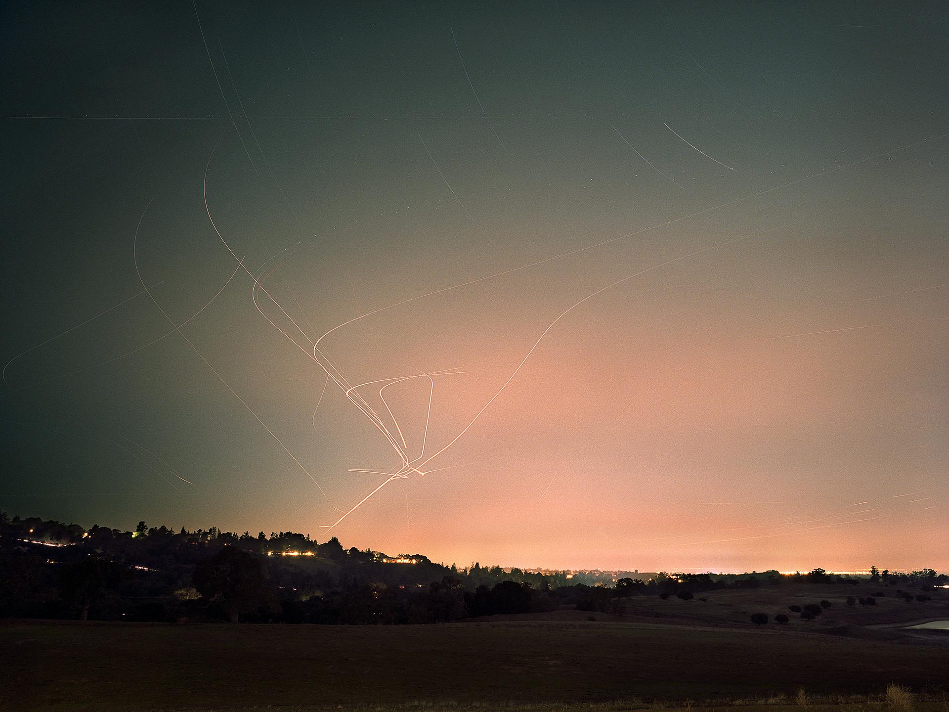 Ashley Valmere Fischer ,   Light Trails: Portola Valley Cluster  (photograph)
