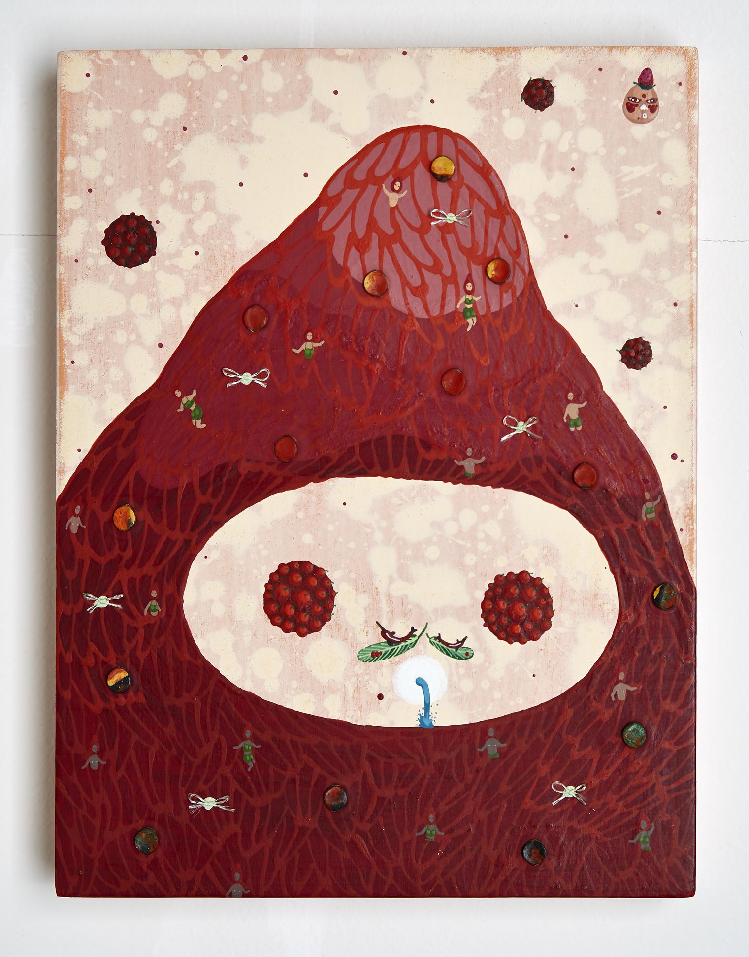 Mi Ju , Strawberry Mountain 2014  (acrylic on panel)