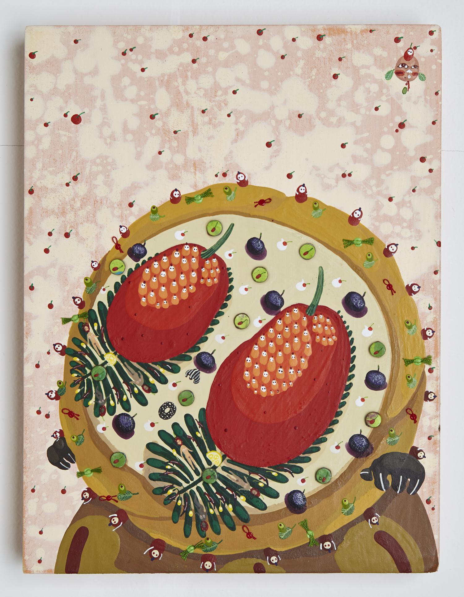 Mi Ju , Squirrel Pot Pie 2014  (acrylic on panel)