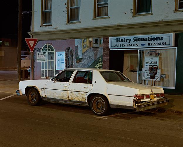 Tema Stauffer ,  White Car, Hudson, New York  (photograph)