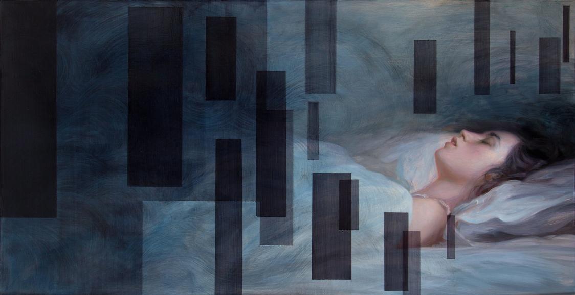 Dorian Vallejo ,  Small Windows  (oil on panel)