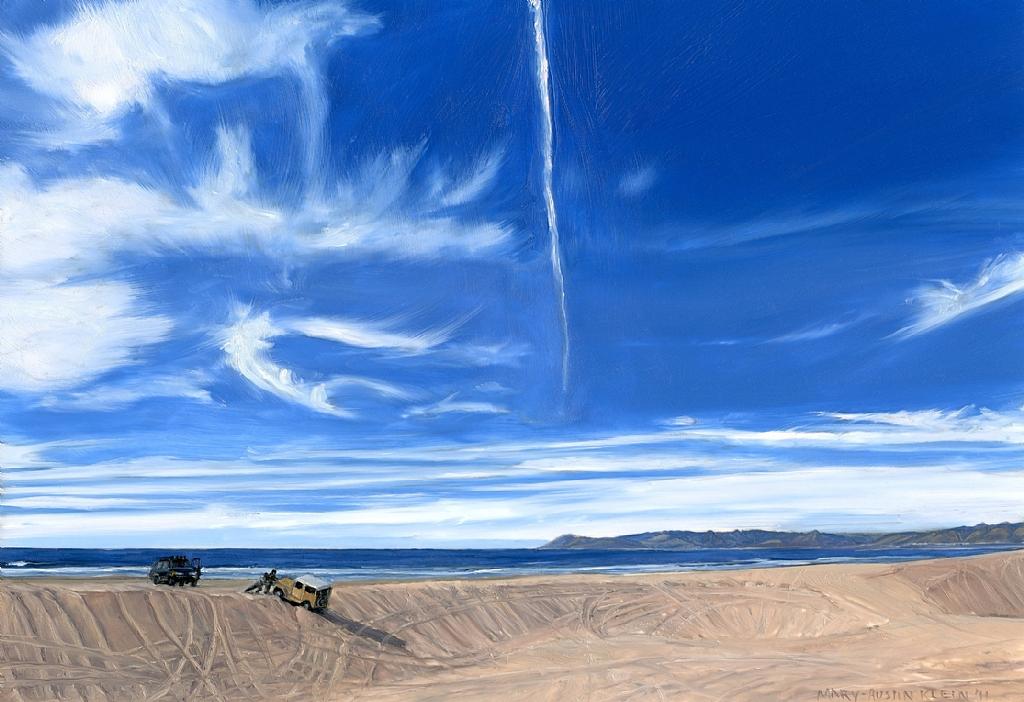 Mary-Austin Klein ,  Pismo Dunes  (oil on panel)