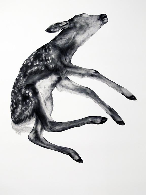 "Kate Puxley ,  Gancho  (charcoal on paper, 68x48"", 2012)"