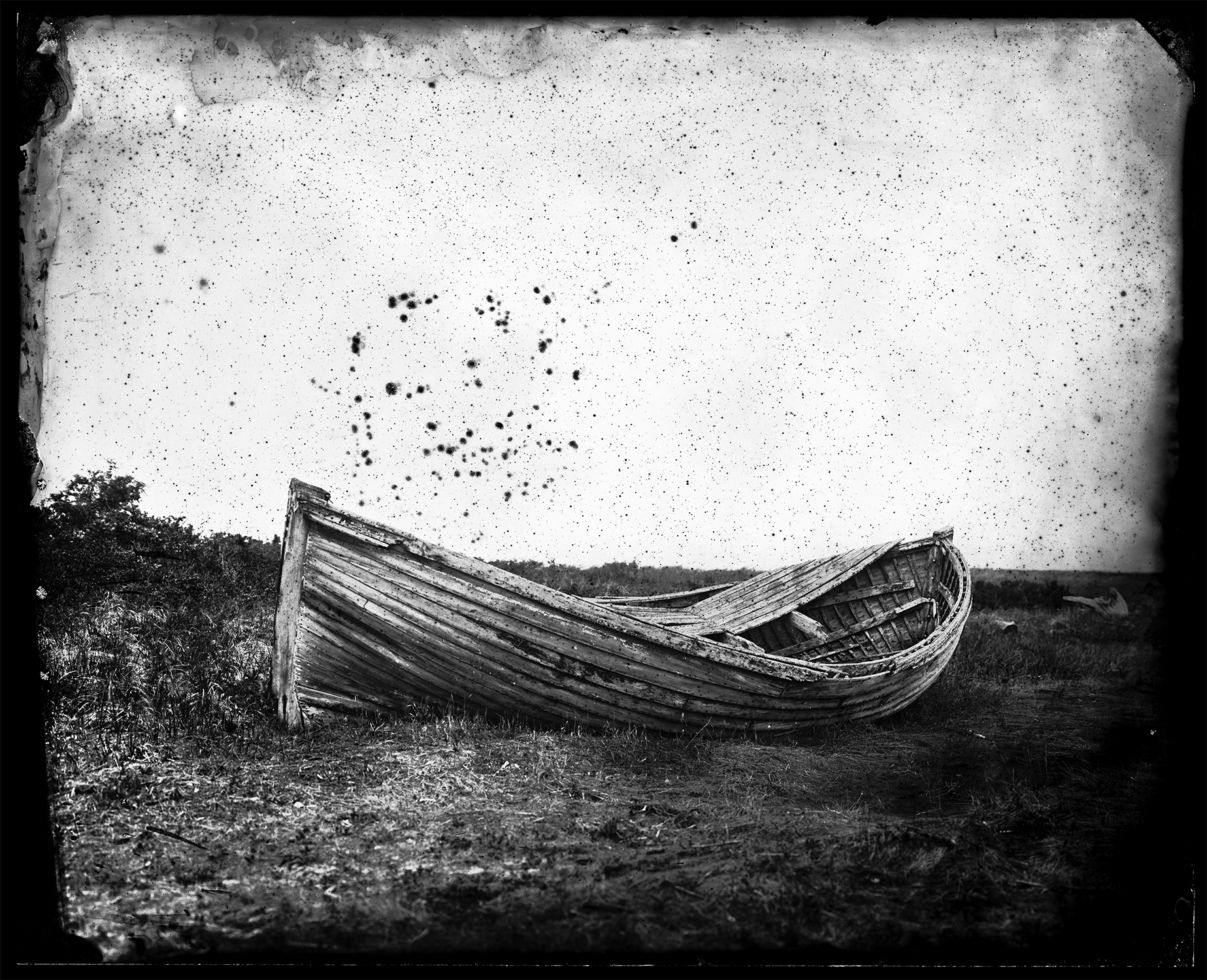 """Cole Caswell ,  Deserted American Dreaming, Celestial Wayfinding  (tintype), 8""""x10"""", Maine, 2016"""