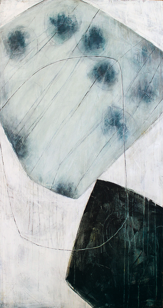 Karine Leger ,  Shallow Freeze  (acrylic on canvas)