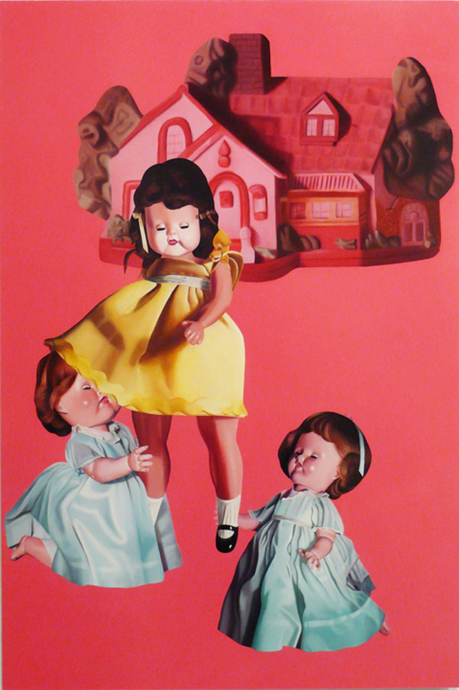 """Julie Farstad ,  She Wants Inside , 2010 Oil on clayboard 36 x 24"""""""
