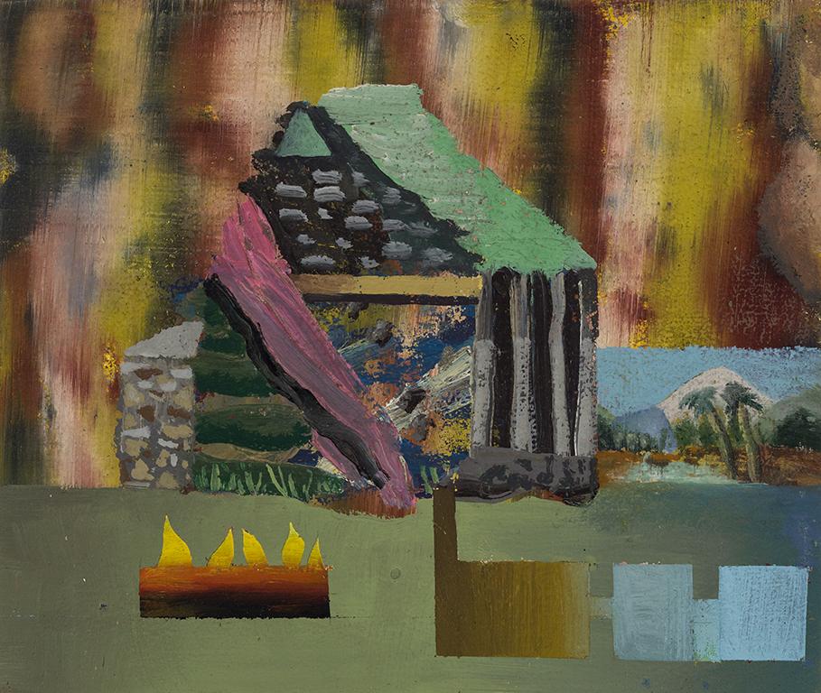 "David LaFrance ,  Earthship 7 , 2015 ( Artist Website ,  Gallery Website ) Oil on panel 6"" x 8"""
