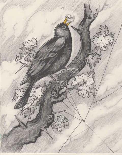 Susannah Violette ,  Blackbird,  2018 Graphite and ink on paper