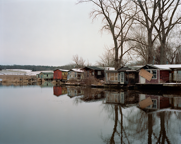 Tema Stauffer ,  Furgary Shacks, Hudson, New York, Winter 2016  ( Artist Website ) Photograph
