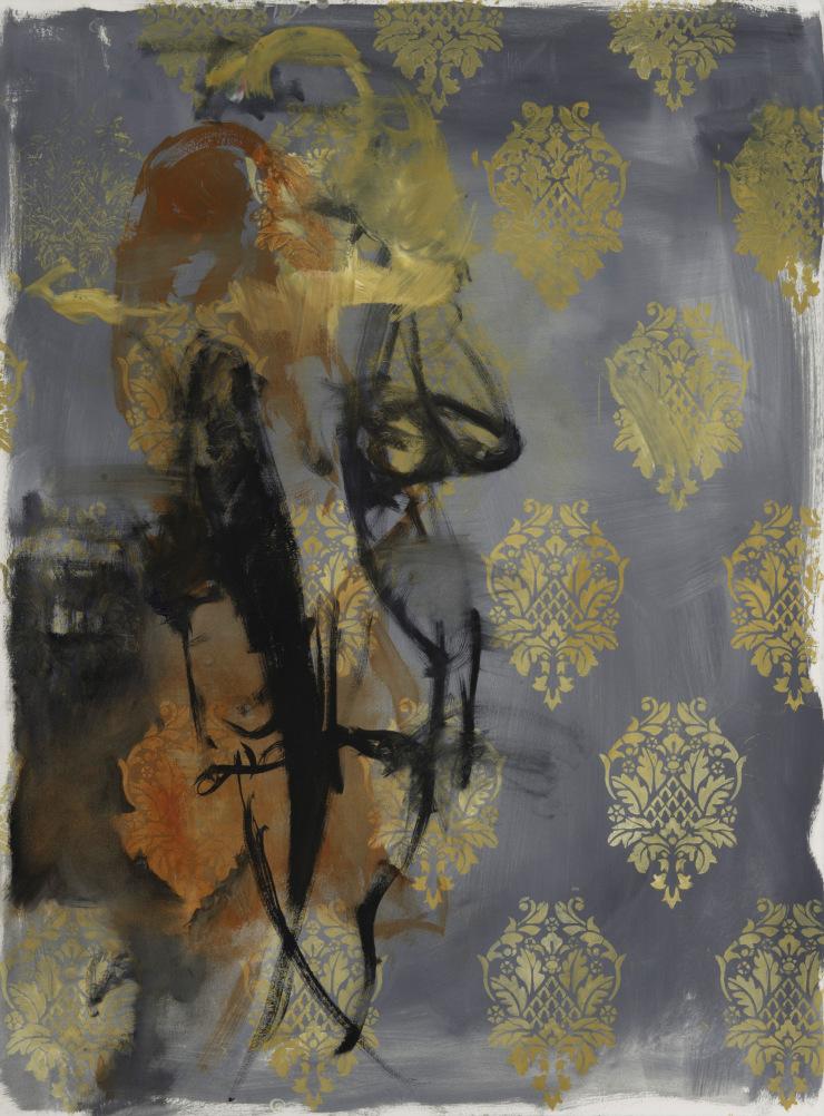 Sara Lightning ,  Dislocations #4 , 2016 ( Artist Website ) Oil on paper 30 x 22″