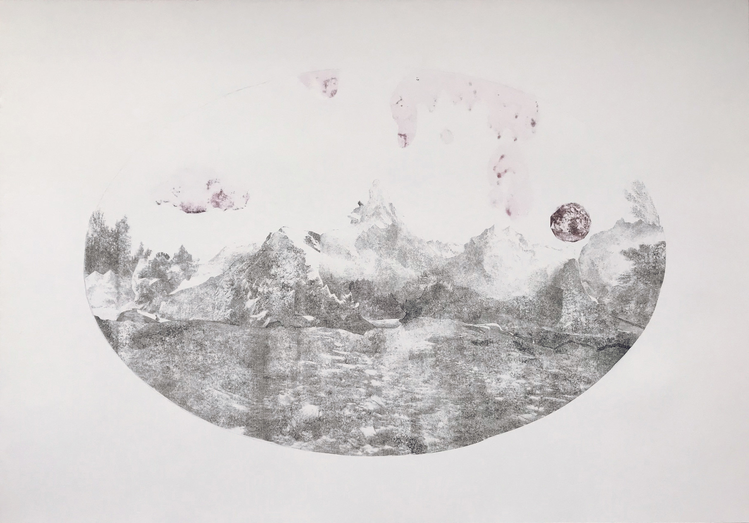Sherrie-Leigh Jones ,  Lost In This Vast Remoteness , 2015 ( Artist Website ,  Instagram ,  Twitter ) Cellulose transfer print 70 x 100 cm