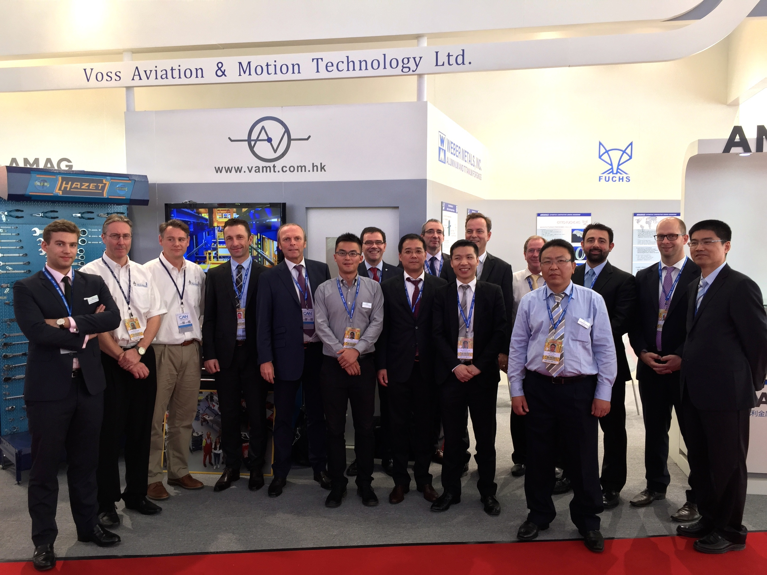 Our Team on site of the Zhuhai Airshow