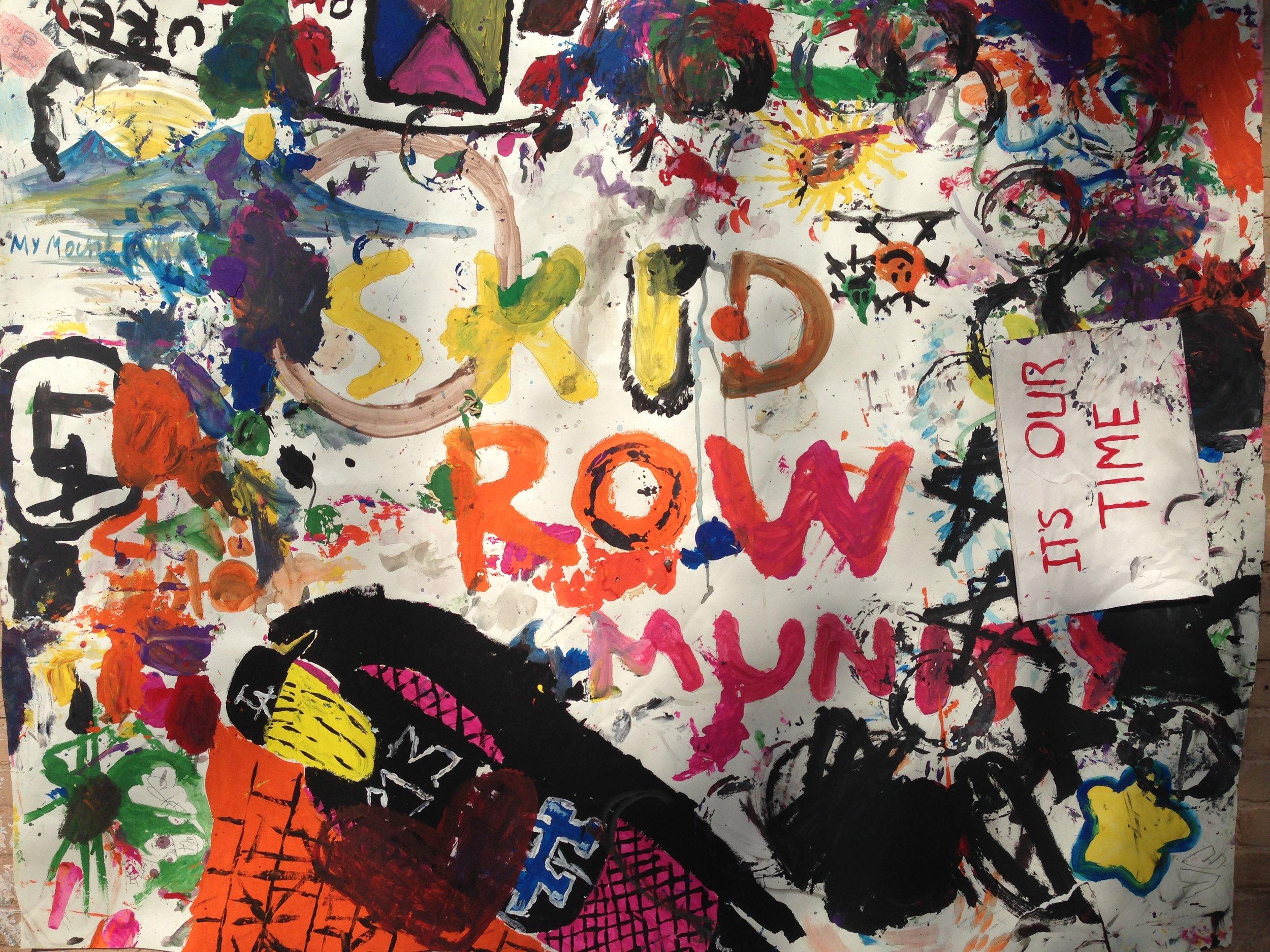 Skid Row Community Art Mural.
