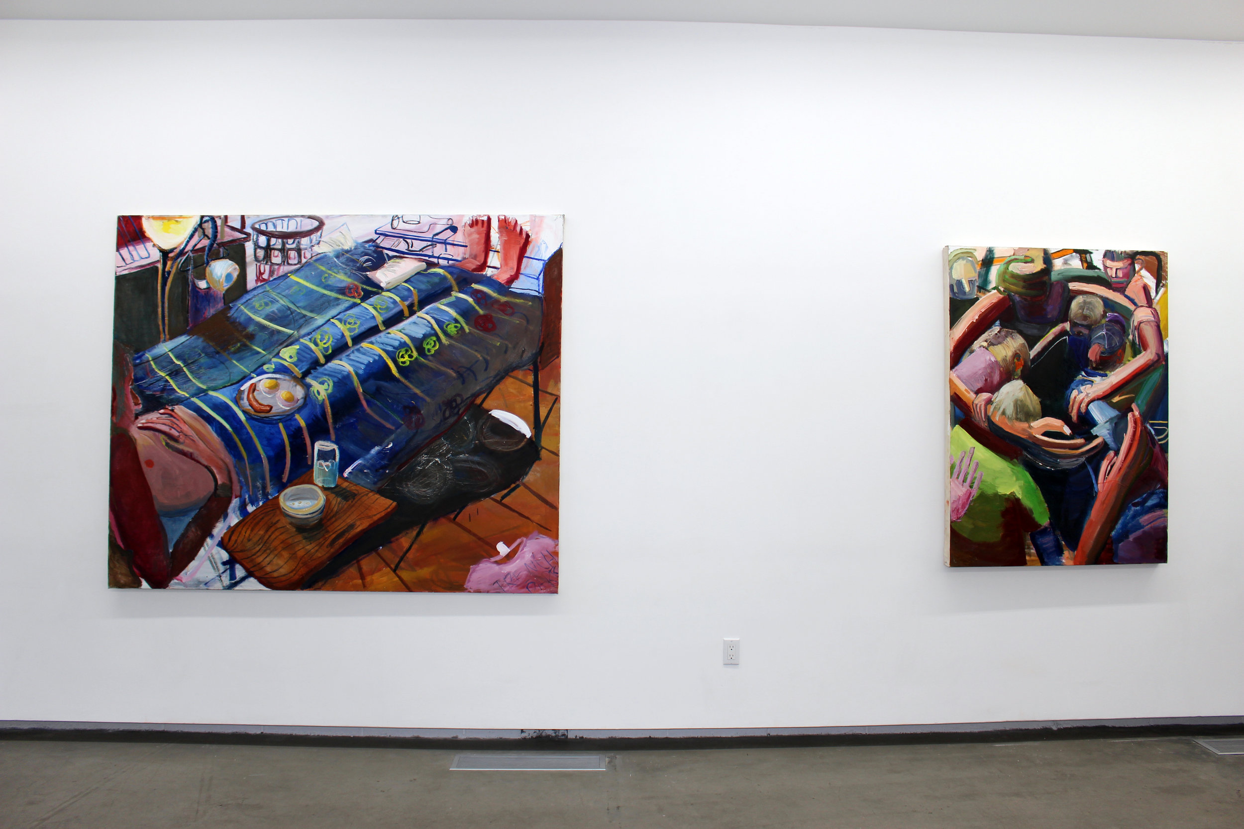 install shot of Jacob Patrick Brooks' paintings