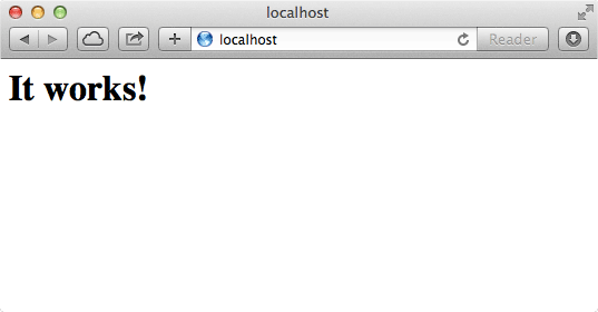 This is the default web page that comes with Apache.