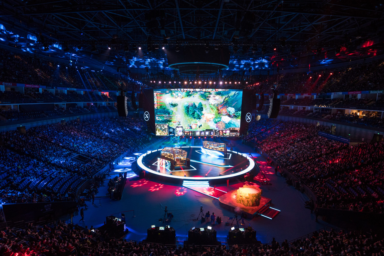 First game of the finals between Team Secret & Team Liquid ( Tim Franco for ESPN )