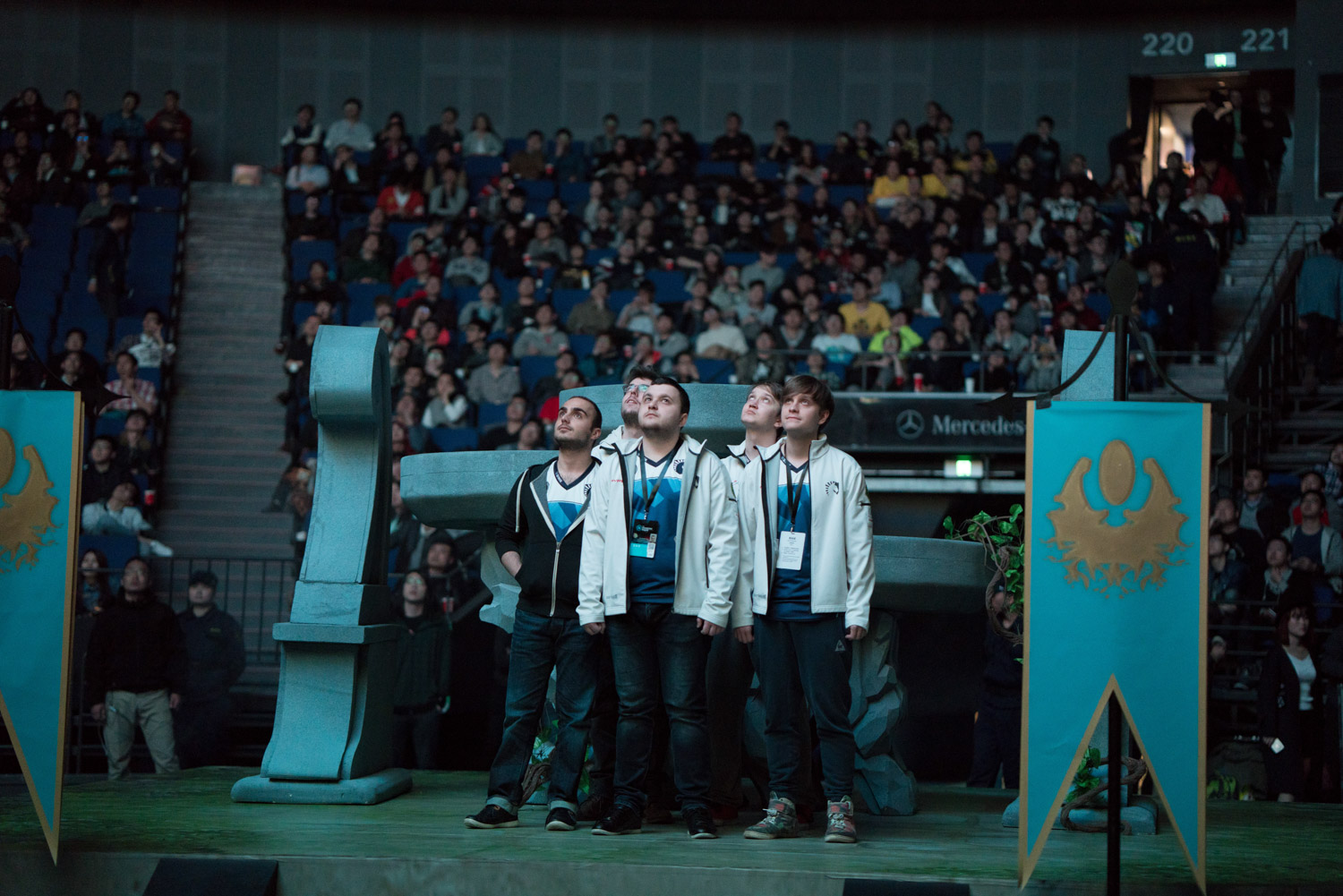 Team Liquid before entering the stage to play the finals