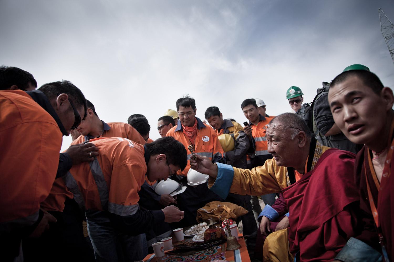 The Khamba Lama blessing mongolian miners