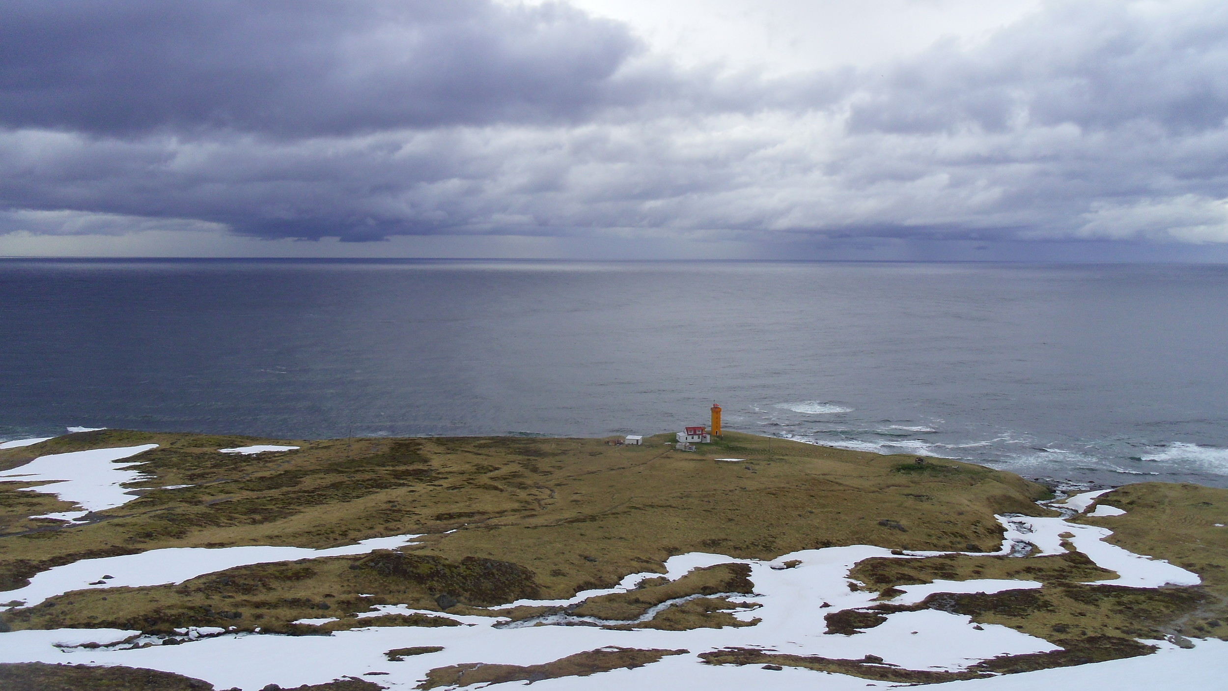M  oody skies in spring, Keflavik lighthouse from a recce on a part of the  North Section
