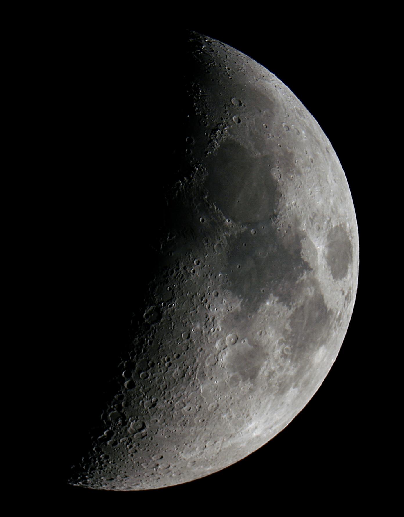 Moon 6.8 Days Old