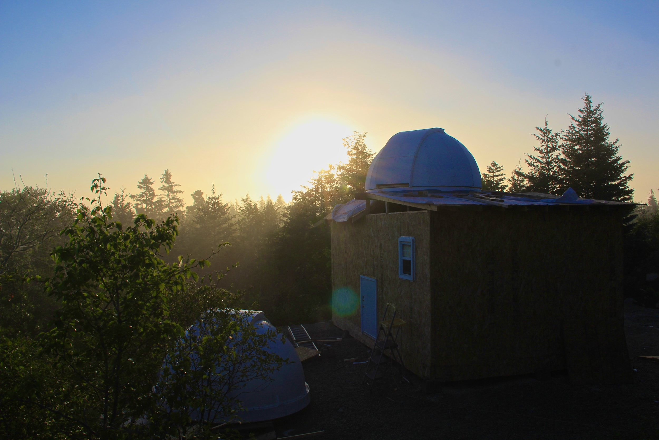 """The small door will house a 16"""" dobsonian telescope to provide viewing from the patio on the back of the observatory.."""