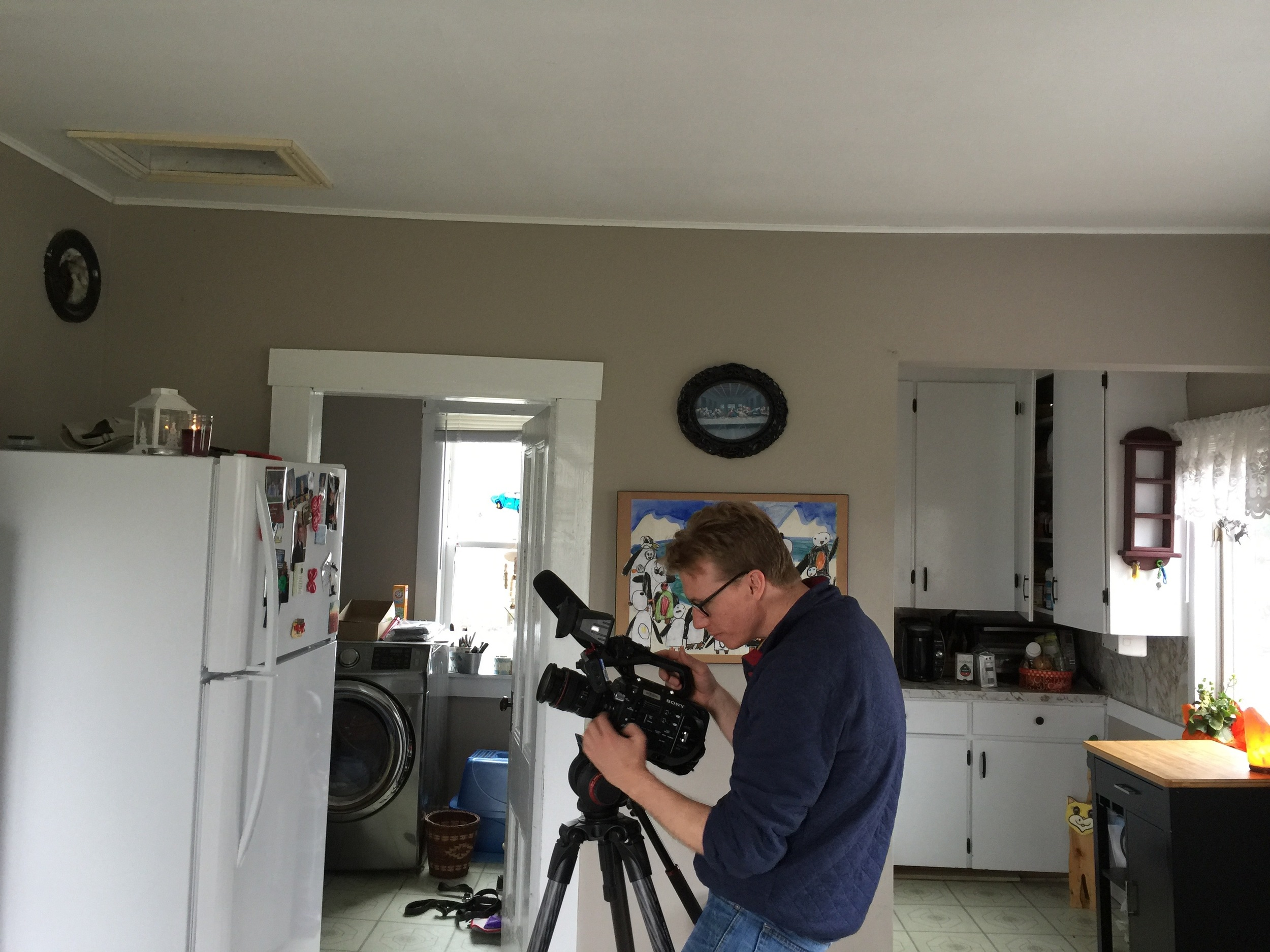 filming at the house