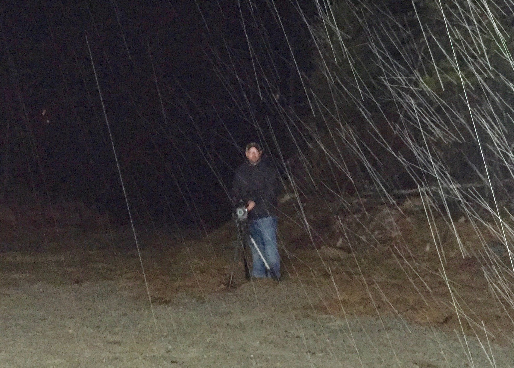 Had a bit of rain Friday night. The filming must go on! We finished this segment around midnight.