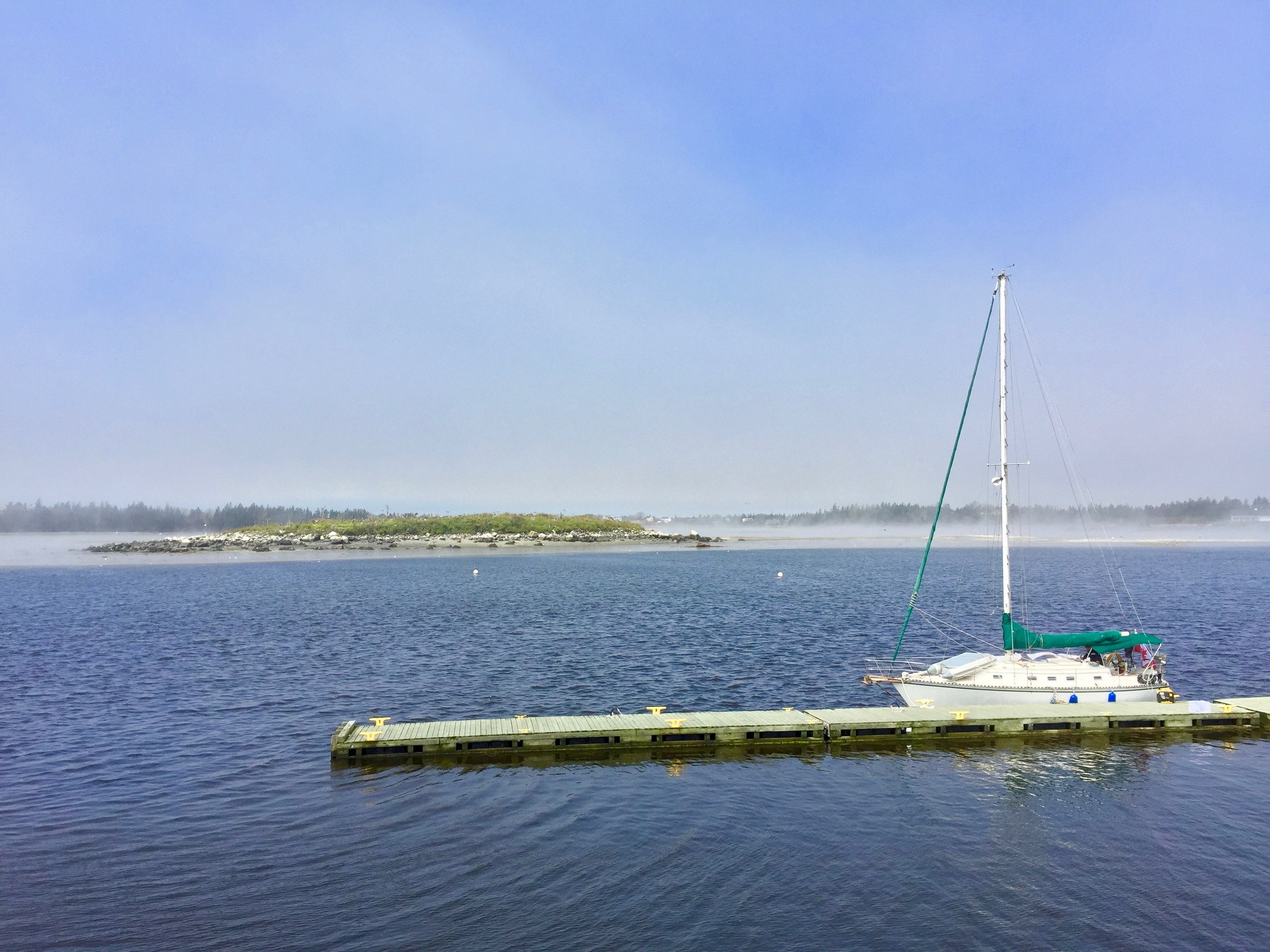 One more quick stop for some scenes from the Yarmouth Harbour, mist and fog on the water.