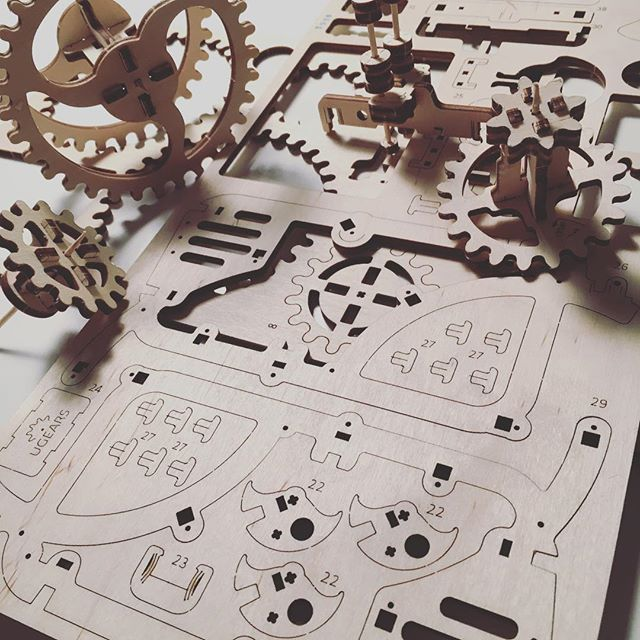 Bit by bit... #constructing #mechanicaldesign #automata #xmasgift