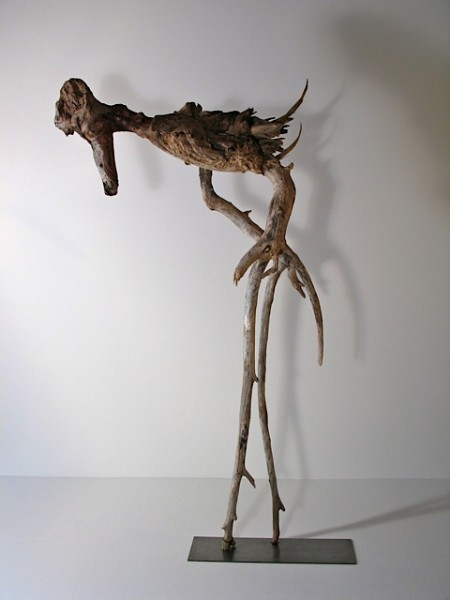 SALLY THURLOW,  Old Bones, 2011  Newfoundland and Lake Ontario driftwood, 110 x 60 x 26 cm