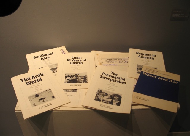 Old World View  Educational slides, pamphlets and vinyl and tape recordings, mixed media, circa 1960